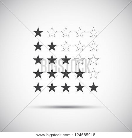 Siple illustration of five rating stars for your review