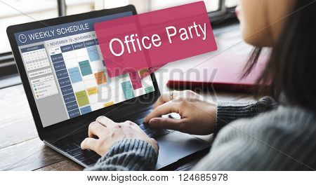 Office Party Celebrate Entertainment Social Concept