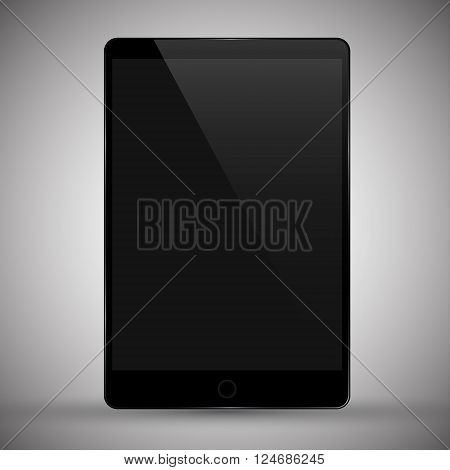 Vector illustration of realistic modern tablet pc