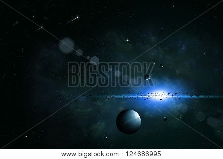 Space Imaginary Background