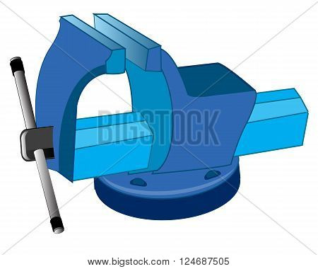 Tools grip metalwork on white background is insulated