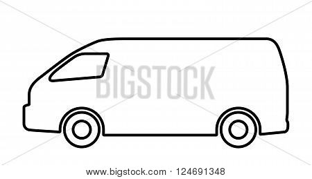Vector illustration set of silhouettes of cars.