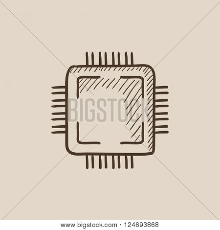 CPU sketch icon.
