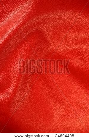 Red Colored Detailed Leather Texture Surface Background