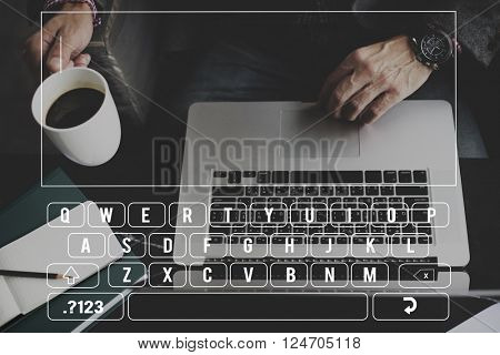 Keyboard Data Information Input Internet Typing Concept