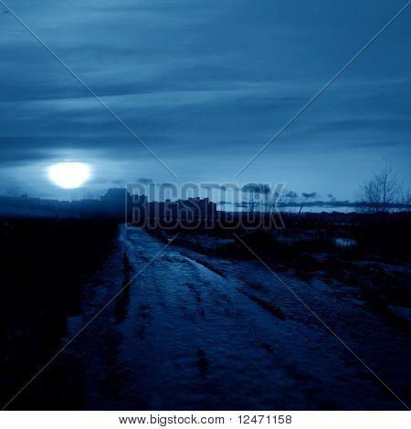 sunset in blue world