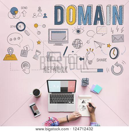 Domain Address Homepage Internet Website Concept