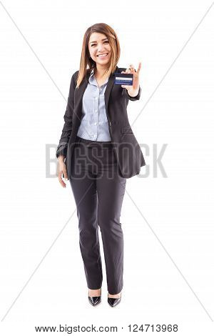 Beautiful Female Executive With Credit Card