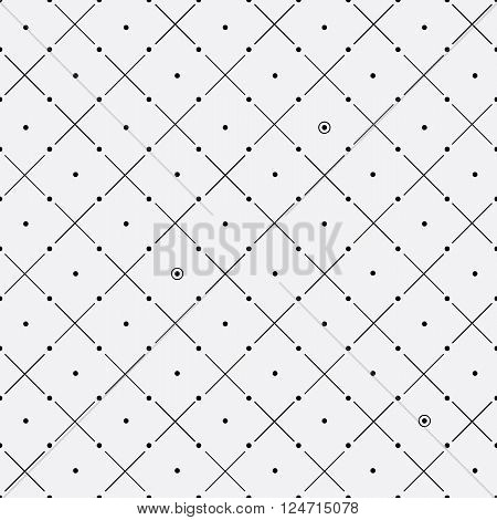 Vector monochrome minimalistic pattern. Minimalistic style.Repeating geometric tiles rounds, dots, diagonal stripes, strokes