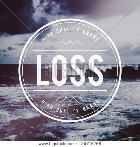 Business opportunity in crisis Loss Concept