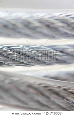 White lock for bike or luggage close up macro photo