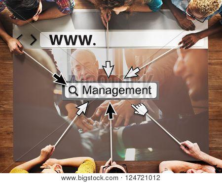 Management Manager Managing Organization Concept