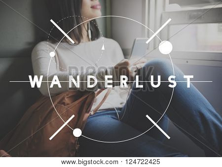 Wanderlust Adventure Camping Journey Vacation Concept