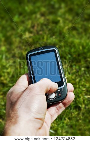 Holding Mobile phone