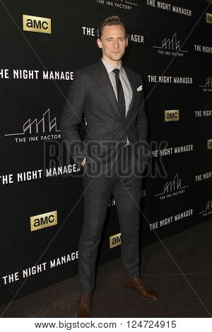 LOS ANGELES - APR 5:  Tom Hiddleston at the The Night Manager AMC Premiere Screening at the Directors Guild of America on April 5, 2016 in Los Angeles, CA