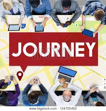 Location Journey Map Navigation Location Concept
