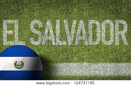 El Salvador Ball in a Soccer Field