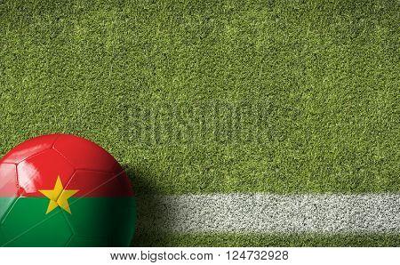 Burkina Faso Ball in a Soccer Field