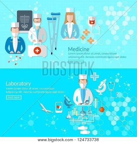 Medicine professional doctors first aid pharmacist pharmaceutical laboratory vector illustration