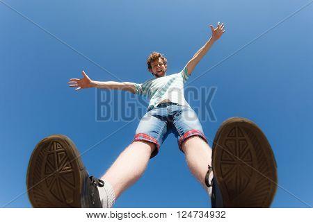 Happy Guy Having Fun Outdoor