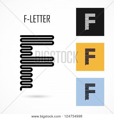 Creative F- letter icon abstract logo design vector template.Creative F- alphabet vector design.Business and education creative logotype symbol.Vector illustration