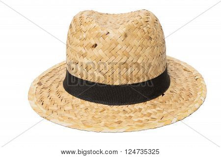 Weaves hat Handmade Straw Hat Isolated on white background