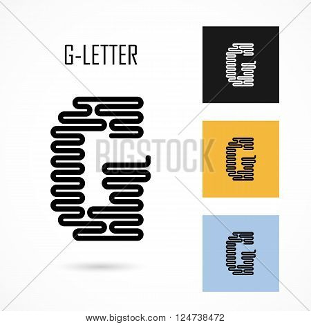 Creative G- letter icon abstract logo design vector template.Creative G- alphabet vector design.Business and education creative logotype symbol.Vector illustration