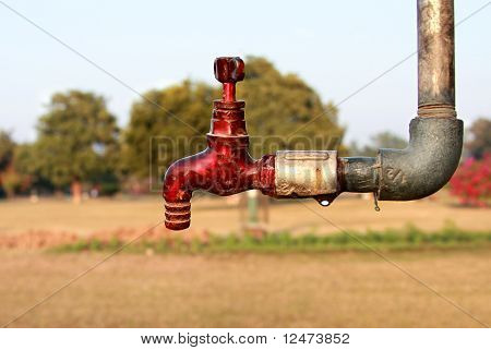 Red Water Tap