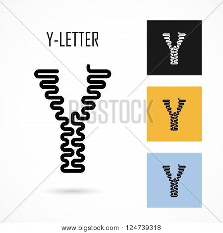 Creative Y- letter icon abstract logo design vector template.Creative Y- alphabet vector design.Business and education creative logotype symbol.Vector illustration