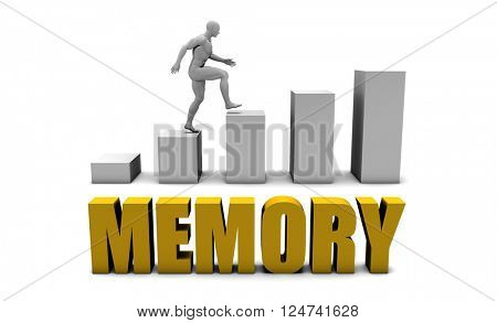 Improve Your Memory  or Business Process as Concept 3D Illustration