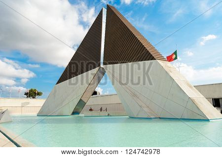 The Monumento Combatentes Ultramar in Lisbon. This memorial is dedicated to the Portuguese soldiers who died during the 1961-1974 Overseas War.