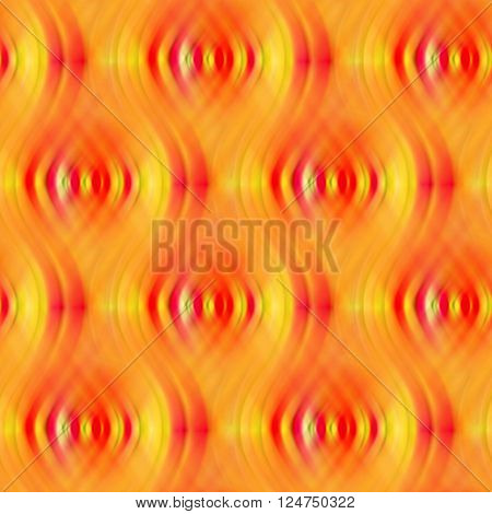 Bright orange background with indistinct waves. Seamless pattern.