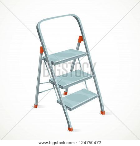 Foldable stepladder isolated  on a white background