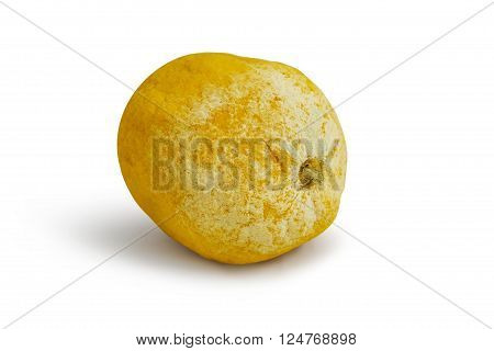 Tainted lemon on a white background. With clipping path