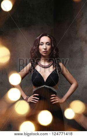 Beautiful woman in evening dress