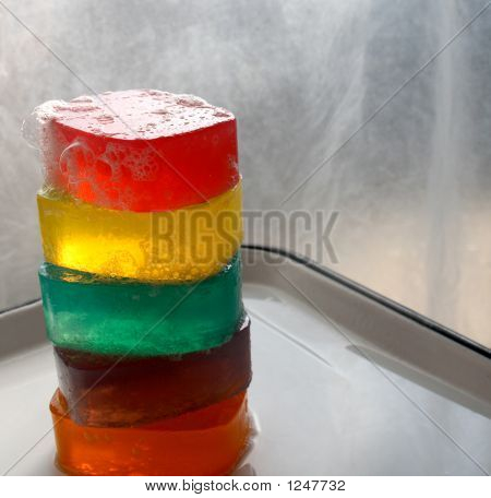 Five Colored Glycerin Soaps