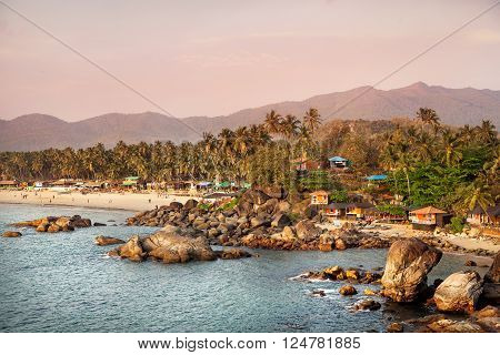 Beautiful View Of Sunset Beach In Goa