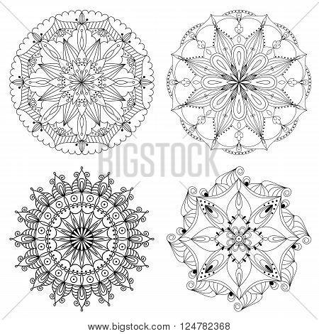 Vector beautiful ethnic mandala. Design element for art.