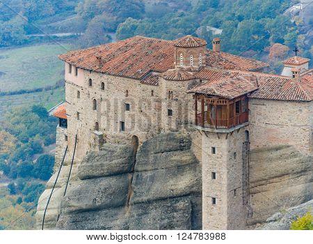 The Meteora monasteries in Greece.
