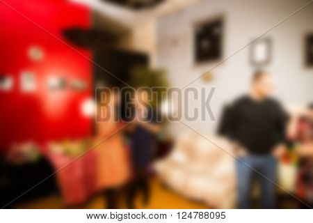 Adult birthday party theme creative abstract blur background with bokeh effect
