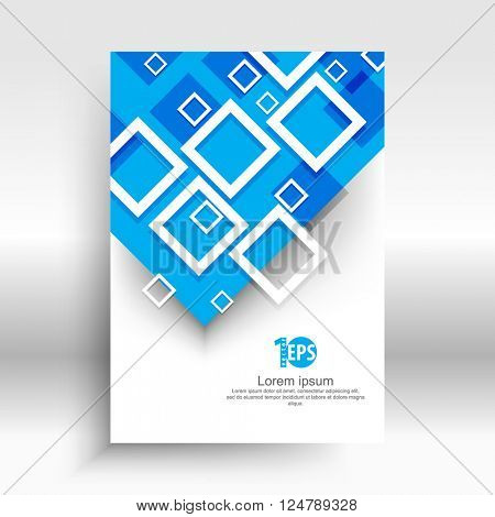overlapping geometric squares flat layout concept design. eps10 vector