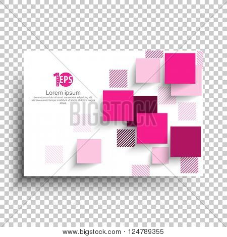 geometric squares overlapping trendy material background design. eps10 vector