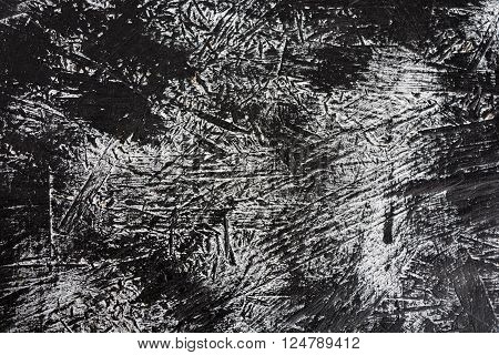 black and white painted grunge wooden panel background and texture