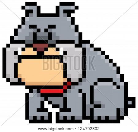 Vector illustration of cartoon Dog - Pixel design