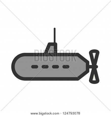 Submarine, parachuting, ship icon vector image. Can also be used for sea. Suitable for use on web apps, mobile apps and print media.