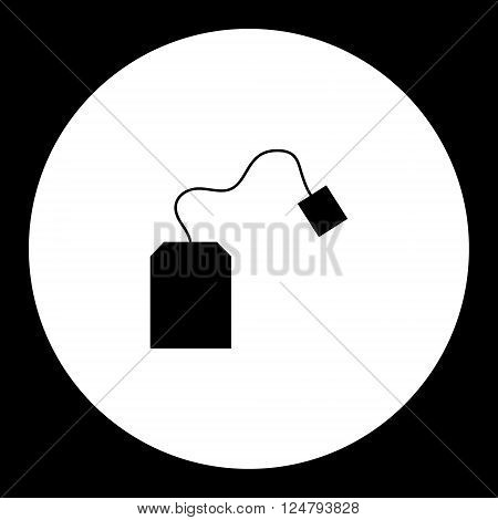 Simple Teabag For Making Tea Silhouette Icon Eps10