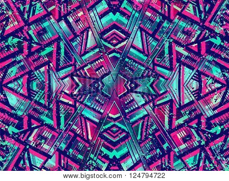 Background Abstract Ethnic Tribal Summer Colors 2