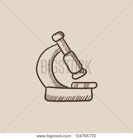 Microscope sketch icon.