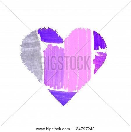 Abstract Color Spots Heart