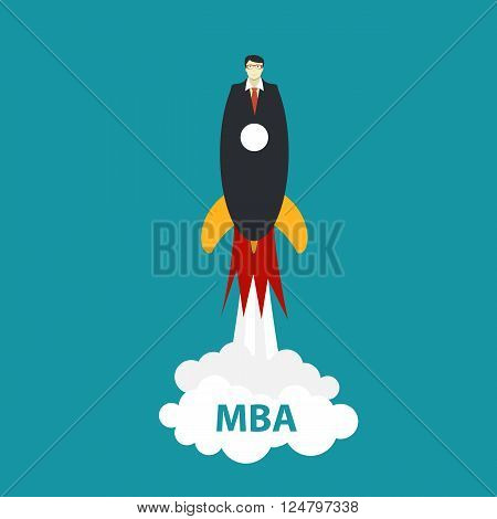 Business MBA Education Concept. Trends and innovation in education. Illustration